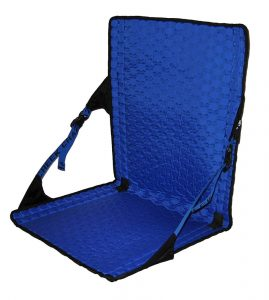 Crazy Creek Products HEX 2.0 Long Back Chair (Black/Royal) - Lightweight and Packable Camp Chair for Hiking, Backpacking, Camping, Boating and Stadium use