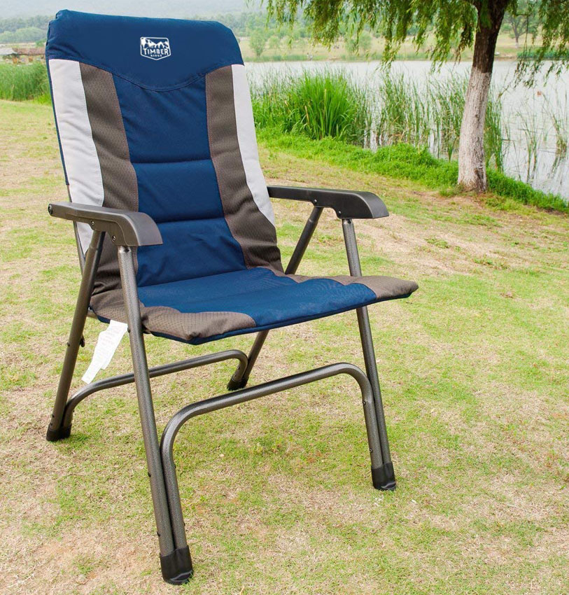 Timber Ridge Camping Folding Chair High Back Portable with Carry