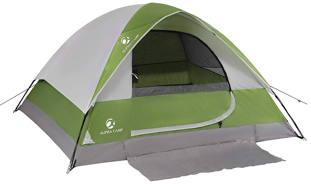 ALPHA CAMP Dome Tent for Camping Easy Setup Tent with Foot Mat