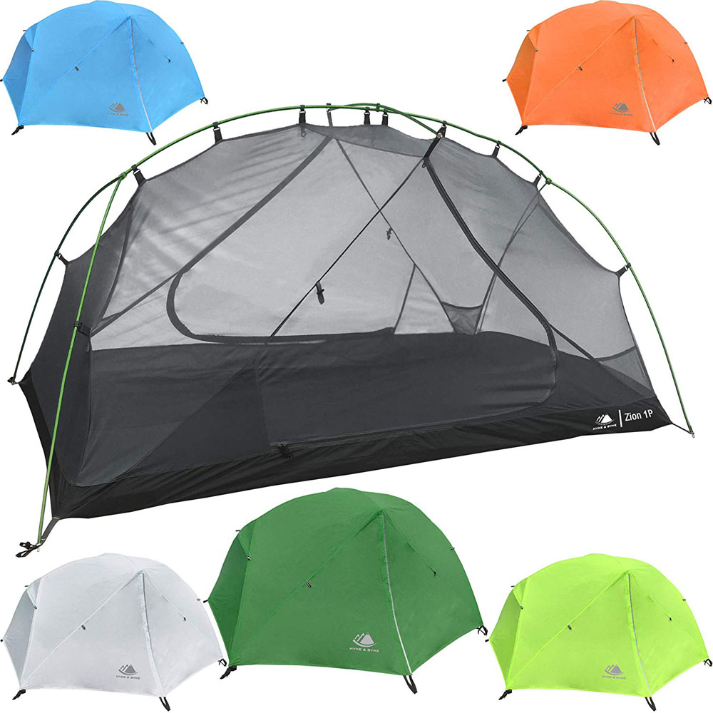 Hyke & Byke Zion 1 and 2 Person Backpacking Camping Tents