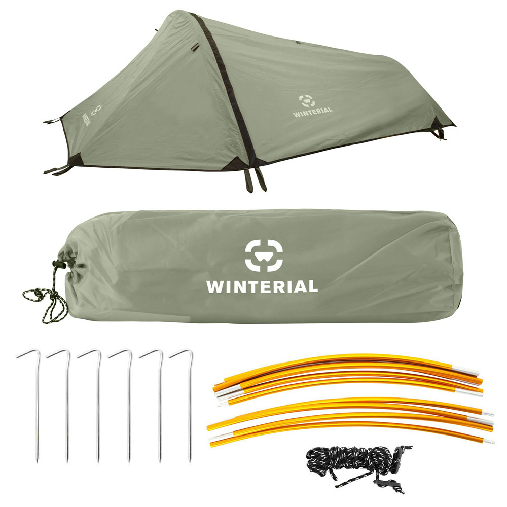Winterial Single Person Personal Bivy Tent, Lightweight 2 Pounds 9 Ounces