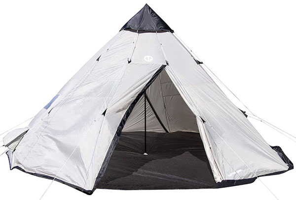 MOKACOCA Tahoe Gear Bighorn XL 12-Person 18' x 18' Teepee Cone Shape Camping Tent