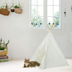 UKadou Pet Teepee Tent for Dogs, Cute Dog Tent Bed