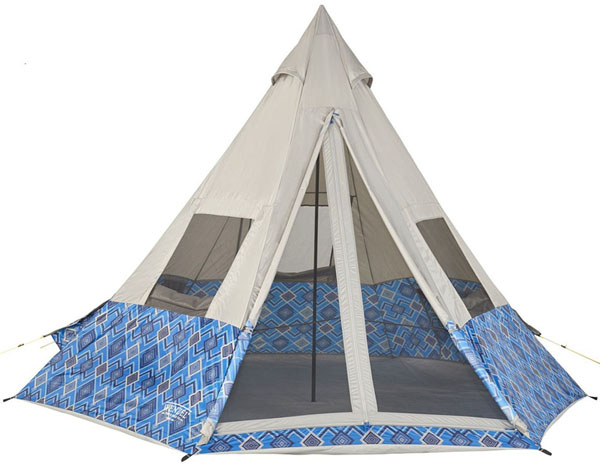 Wenzel 11.5 x 10 Foot Shenanigan 5 Person Teepee Camping Tent