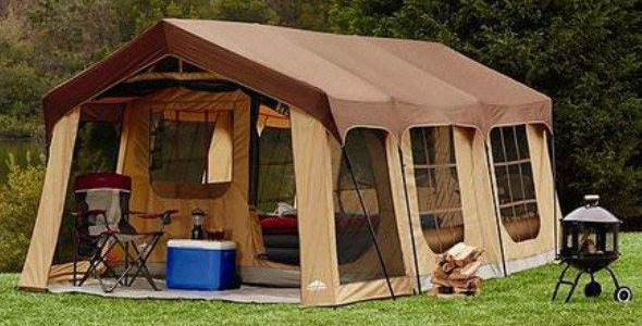Large 10 Person Family Cabin Tent Front Porch