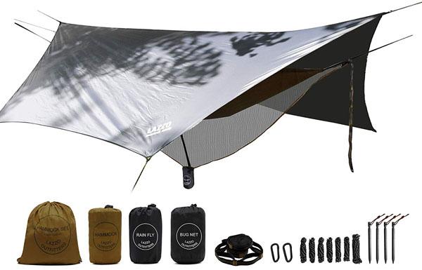 LAZZO Camping Hammock Set All-Inclusive, Single & Double Hammock