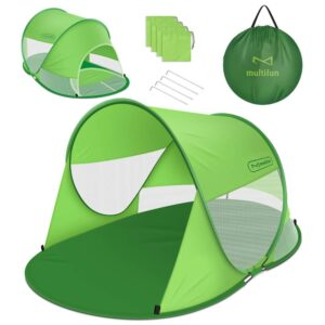 Multifun UPF 50+ Easy Pop Up Beach Tent, Large 3-4 Person Sun Shelter