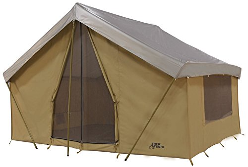 Trek Tents 245C Canvas Cabin 9' x 12' Heavy Duty Cotton Camping 7 Person Tent Fly Cover